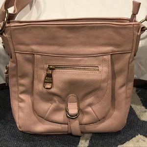 Crossbody light pink purse